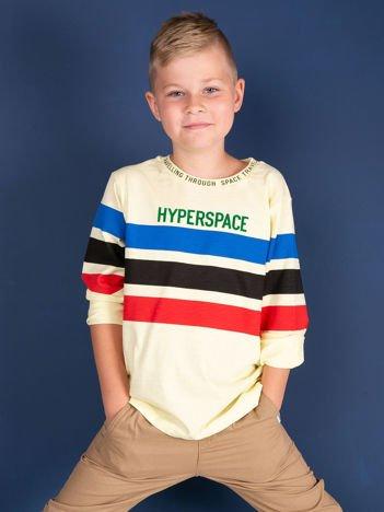 Jasnożółta bluzka dla chłopca z bawełny