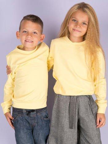 Jasnożółta gładka bluza dziecięca