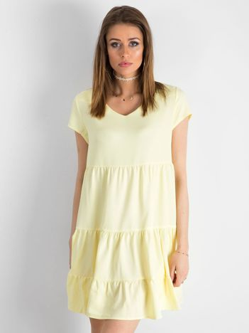 Jasnożółta luźna sukienka