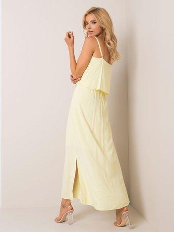 Jasnożółta sukienka Paloma RUE PARIS