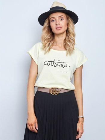Jasnożółty t-shirt Authentic