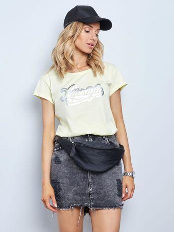 Jasnożółty t-shirt Lifestyle