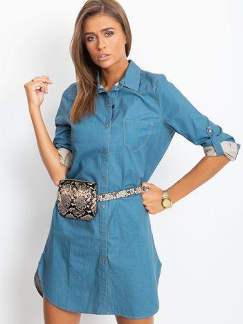 Jeansowa sukienka damska