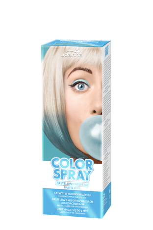 Joanna COLOR SPRAY Pastelowy niebieski 150ml