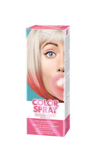 Joanna COLOR SPRAY Pastelowy różowy 150ml