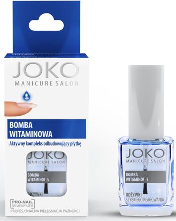 Joko Manicure Salon Aktywny kompleks odbudowujący płytkę Bomba Witaminowa 10 ml