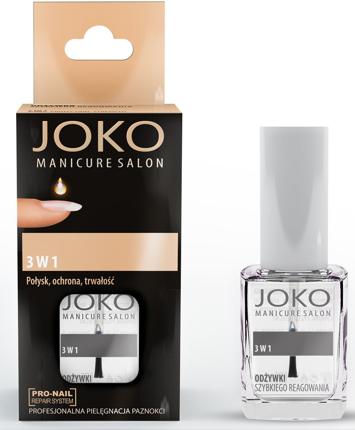Joko Manicure Salon Odżywka do paznokci 3w1 (ochrona, połysk, trwałość) 10 ml