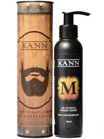 KANN Żel do mycia twarzy i brody naturalny 150 ml