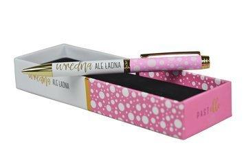 """KUKARTKA Długopis z ozdobnym napisem """"Wredna ale ładna"""" Piękny, praktyczny, świetnie wykonany, w ozdobnym pudełku - idealny na prezent"""