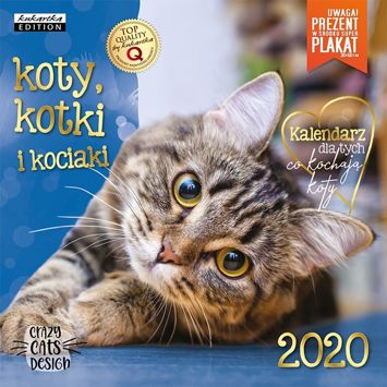 KUKARTKA Kalendarz ścienny na rok 2020 KOTY + plakat 60x30 cm