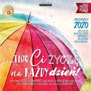 KUKARTKA Kalendarz ścienny na rok 2020 ŻYCZENIA + plakat 60x30 cm