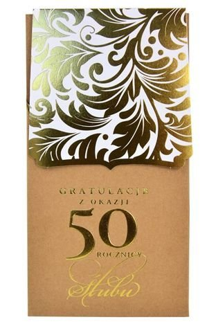 KUKARTKA Kartka Gratulacje z Okazji 50 Rocznicy Ślubu. Wyjątkowa i niepowtarzalna kartka z kolekcji Passion Moments