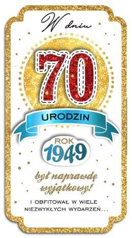 KUKARTKA Kartka W Dniu 70 Urodzin. Wyjątkowa i niepowtarzalna kartka z kolekcji Passion Moments