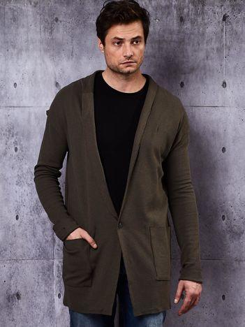 Khaki bluza męska z kieszeniami