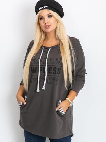 Khaki bluza plus size Impress