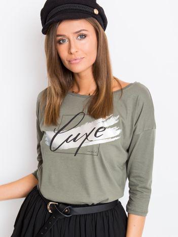 Khaki bluzka Luxe