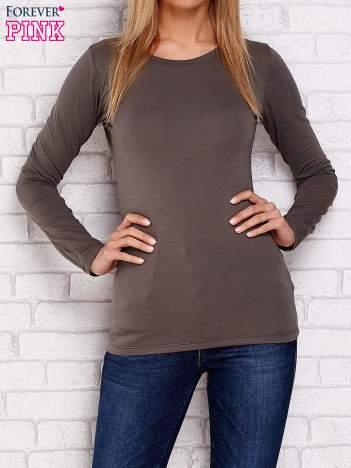 Khaki bluzka basic