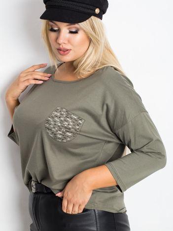 Khaki bluzka plus size Touchy