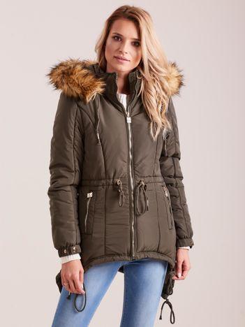 Khaki damska kurtka na zimę