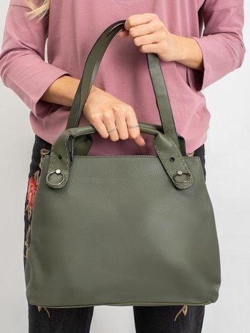 Khaki damska torebka city bag