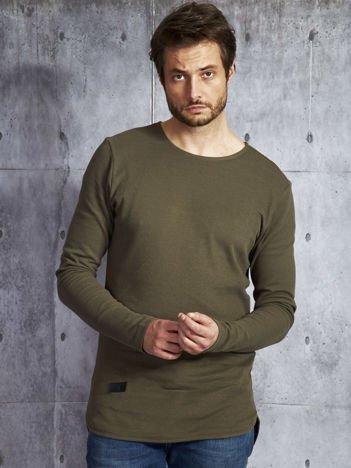 Khaki dłuższa bluzka męska