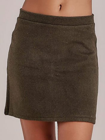 Khaki dzianinowa spódnica mini