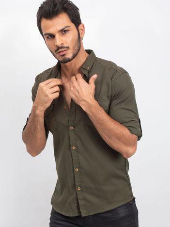 Khaki koszula męska Exactly