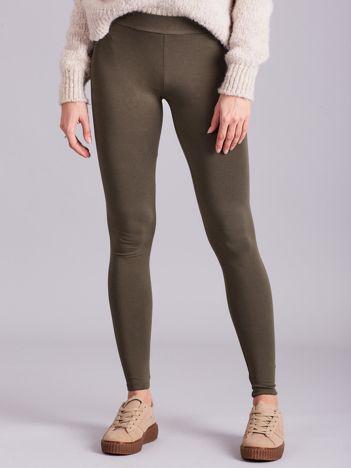 Khaki legginsy Basic