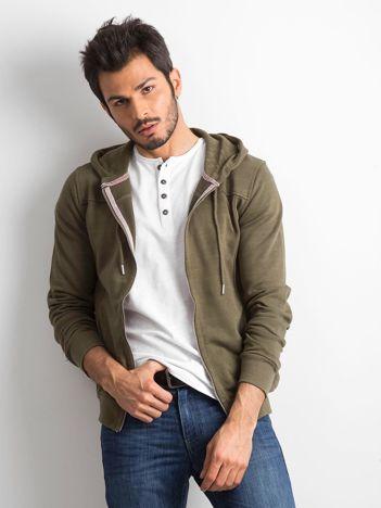 Khaki męska bluza dresowa