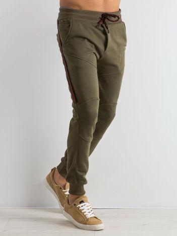 Khaki męskie dresy Simplicity