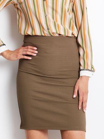 Khaki ołówkowa spódnica damska