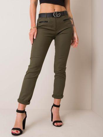 Khaki spodnie Justine RUE PARIS
