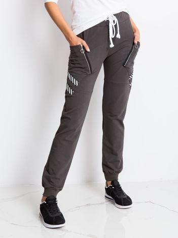 Khaki spodnie Texture