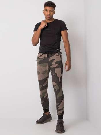 Khaki spodnie dresowe męskie Ethan