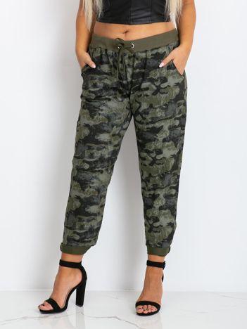 Khaki spodnie plus size Aubrie