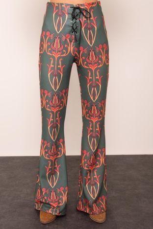 Khaki spodnie z nadrukiem BSL