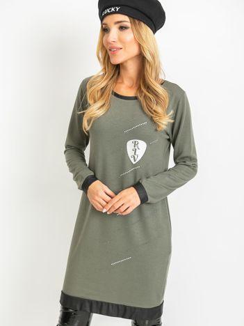 Khaki sukienka Amour