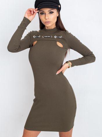 Khaki sukienka Diaz