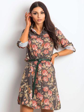 Khaki sukienka Enterprising