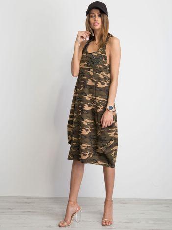 Khaki sukienka Extravagance