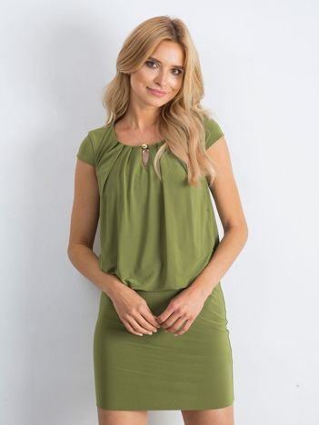 Khaki sukienka Transformative
