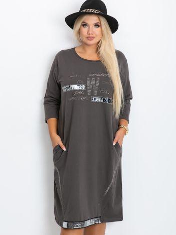 Khaki sukienka plus size Coast