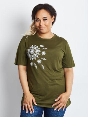 Khaki t-shirt plus size Unlikely
