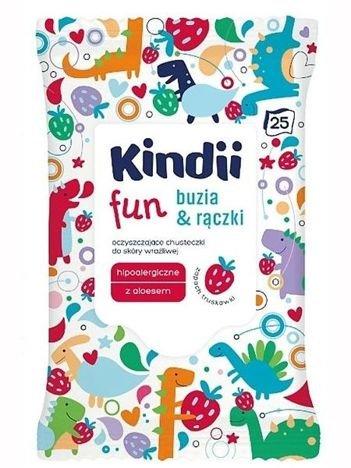 Kindii Fun Buzia & Rączki Chusteczki oczyszczające dla dzieci  1op.- 25 szt.