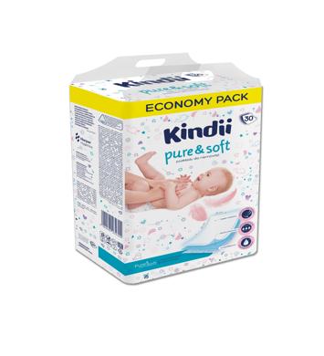 """Kindii Pure & Soft Podkłady jednorazowe dla niemowląt 1op.-30szt"""""""