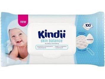 Kindii Skin Balance Chusteczki oczyszczające dla niemowląt 1op.- 100 szt.