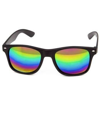 Klasyczne okulary w stylu WAYFARER unisex z szybą OMBRE MATOWE