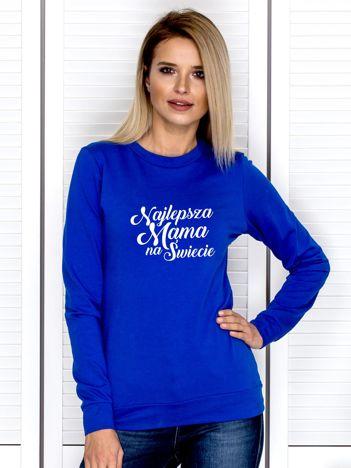 Kobaltowa bluza NAJLEPSZA MAMA NA ŚWIECIE