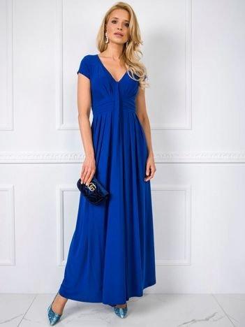 Kobaltowa sukienka Chrissy