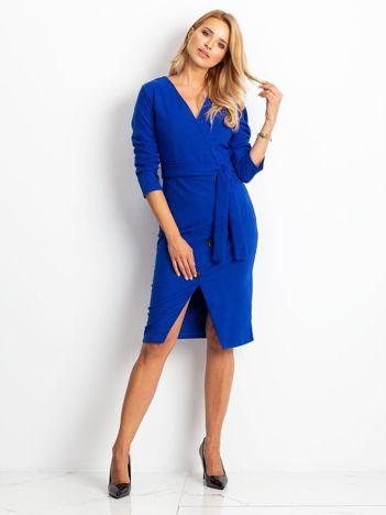 Kobaltowa sukienka Future